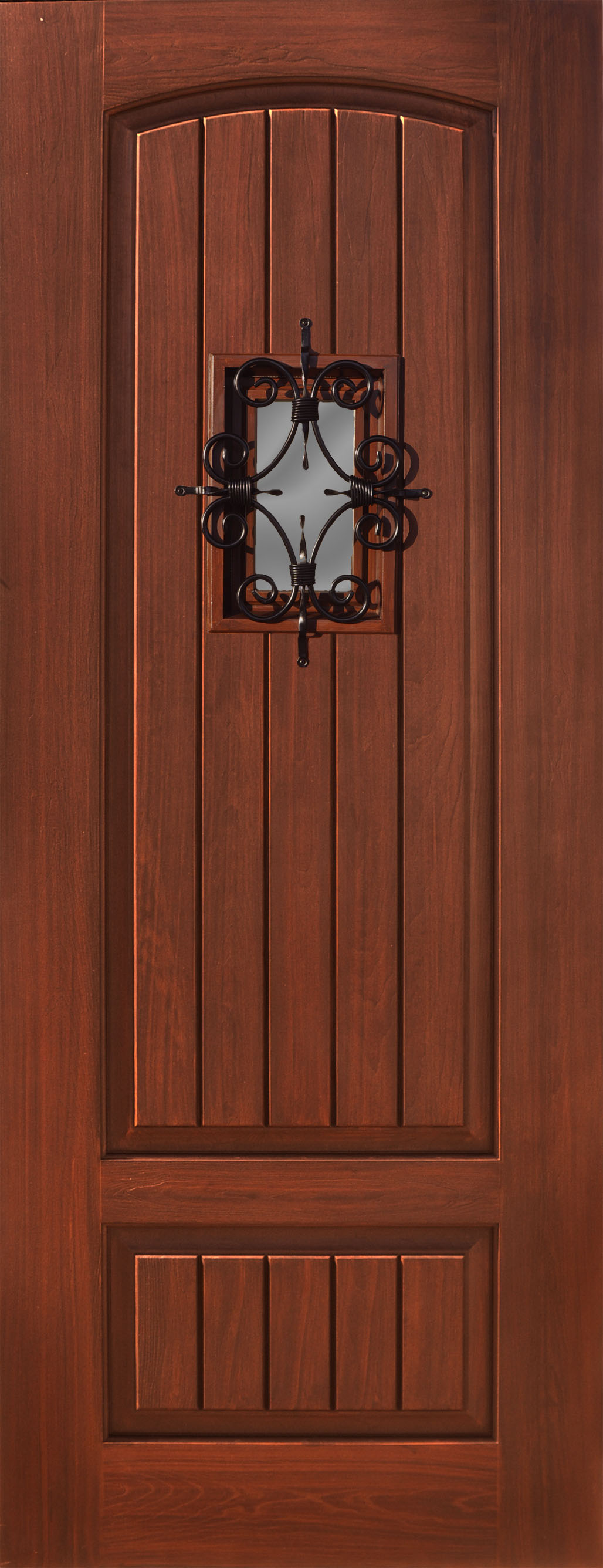 Fiberglass Estancia 2 panel V-groove Florentine Door & Fiberglass Estancia 2 panel V-groove Florentine Door u2013 The Front ...