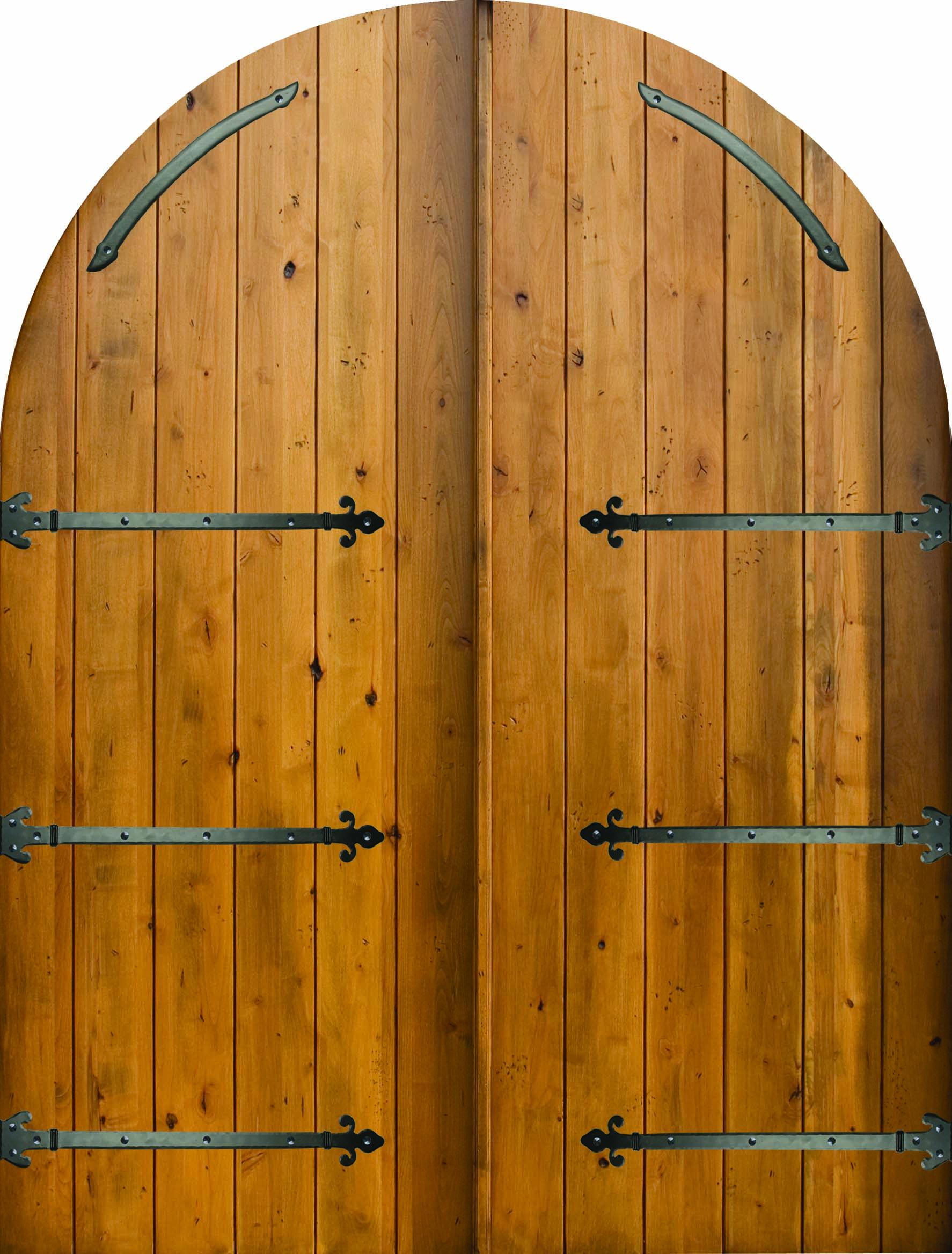 Estancia Plank Style Round Top Double Door