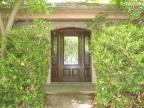 wood door, entry door, door with sidelites, decorative glass door