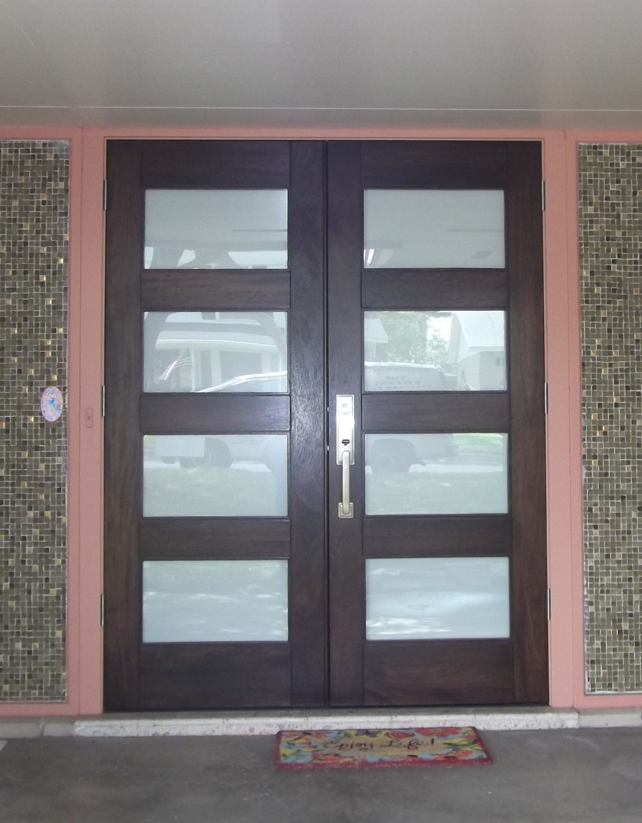 Modern glass front doors for homes -  1965 4 Lite Matte