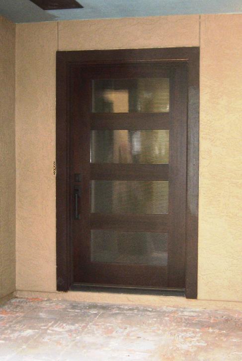 Modern wood door gallery the front door company 286 1971 4 lite rubi horizontal fluted 42quot planetlyrics Images