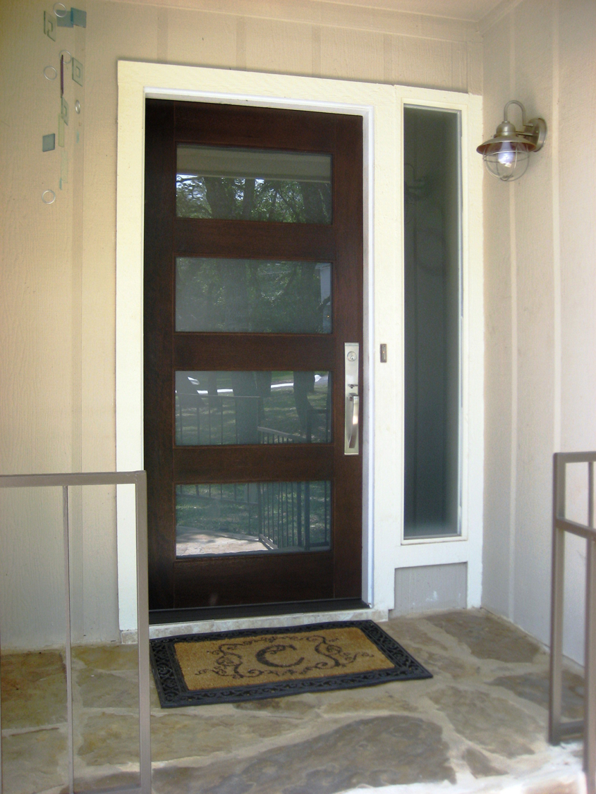 Modern wood door gallery the front door company for Modern front entry doors