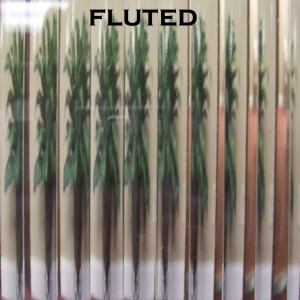 Fluted glass