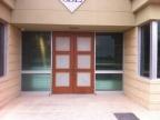 Wood Doors with corrugated steel inlays