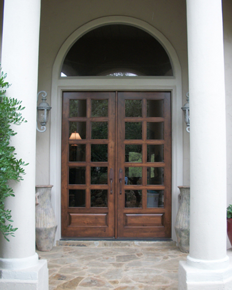 010. #2201-Custom 10 Lite Panel Bottom Clear IG & Divided Lite Wood Door Gallery \u2013 The Front Door Company