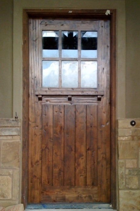 Craftsman wood door gallery the front door company 2182 custom 6 lite craftsman clear v grooved with shelf planetlyrics Images