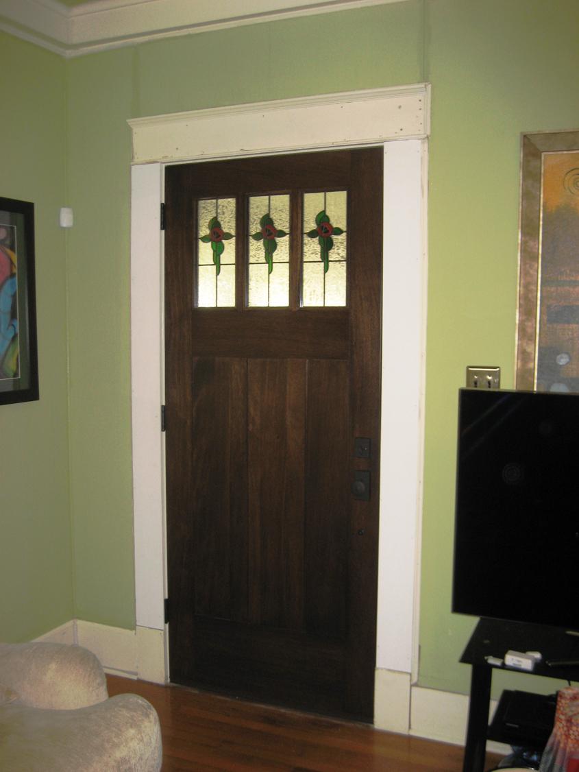 Craftsman wood door gallery the front door company 2193 arts and crafts 702 b inside view planetlyrics Gallery