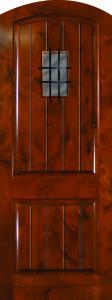 Knotty Alder Arch 2panel 80 Vgrooves speakeasy