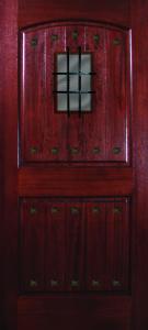 Mahogany 2 Panel VGrooves 68 Madrid SpeakeasyClavos