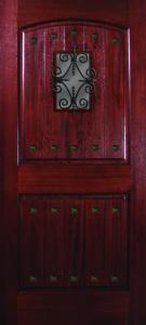 Mahogany 2 Panel VGrooves 68 florentine speakeasy 10 Clavos