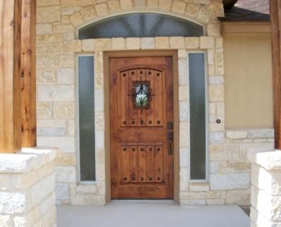 Wood Door Small Window The Front