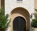 Trinity Iron Arched Door