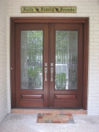 Wood Door, Mahogany Door, Entry Door, Decorative Glass Door