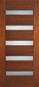 3068 Mahogany 5 Lite horizontal
