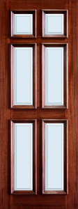 3-0x8-0_Mahogany_6_Panel_Raised_Moulding_Clear_Bevel