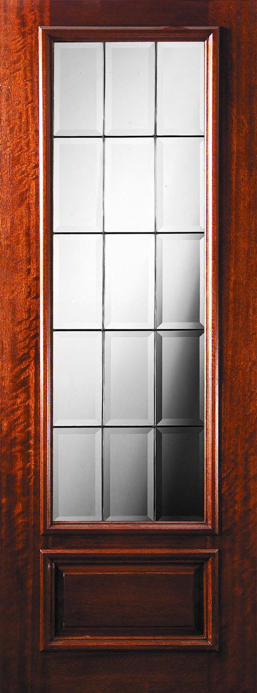 3080 French Mahogany 3 4 Lite The Front Door Company