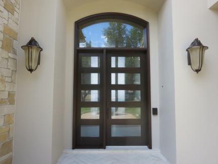 Clean Wrought Iron Door