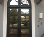 IDG1912-5-lite_Double_Iron_Door_with_Two_Lite_Round_Top_Transom