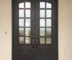 IDG1912-Arch_Top_10-lite_Custom_Panel_Iron_Double_Door