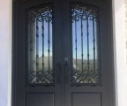 IDG1912-Barcelona_Arch_Top_Double_Iron_Door_with_Raised_Panels