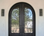 IDG1912-Granada_Round_Top_Double_Iron_Door_with_Raised_Panels