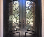 IDG1912-Granada_Square_Top_Arch_Lite_Arch_Panel_Double_Iron_Door-rs