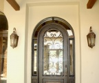 IDG1912-Marbella_Round_Top_Iron_Door_with_Wraparound_Transom