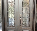 IDG1912-Milan_Double_Square_Top_4068_Iron_Door