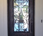 IDG1912-Milan_Round_Top_Iron_Door_with_Raised_Panel