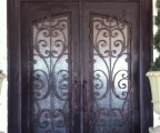 IDG1912-Milan_Square_Top_Arch_Lite_Double_Iron_Door