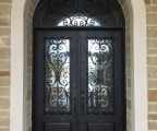 IDG1912-Milan_with_Raised_Panel_Double_Iron_Door_with_Round_Top_Transom_(2)