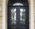 IDG1912-Milan_with_Raised_Panel_Double_Iron_Door_with_Round_Top_Transom_(3)