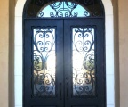 IDG1912-Milan_with_Raised_Panel_Double_Iron_Door_with_Round_Top_Transom_(4)