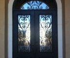IDG1912-Milan_with_Raised_Panel_Double_Iron_Door_with_Round_Top_Transom_(5)