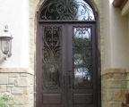 IDG1912-Milan_with_Raised_Panel_Double_Iron_Door_with_Round_Top_Transom_(6)