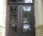 IDG1912-Milan_with_Raised_Panel_Double_Iron_Door_with_Round_Top_Transom_(7)