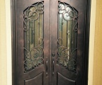 IDG1912-Oviedo_Square_Top_Arch_Lite_Double_Iron_Door